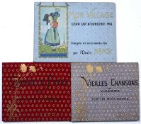 A group of three mid 20th century French children's books:- L'Oncle Hansi 'Mon Village' Librairie