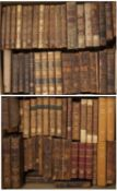 A collection of Antiquarian titles mainly leather bound incl. Goldsmith, Froissart, Clarendon,
