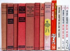 Crompton (Richmal) (1890-1969) A group of 8 'Just William' titles. Red cloth plus 3 paperback