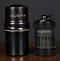 A Curta Calculator Type I, c.1959, with tin caseCondition report: In good condition, with minor