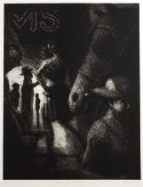 Bill Jacklin (b.1942) Dusk on 42nd St., 1989, signed and inscribed in pencil (in the margin),
