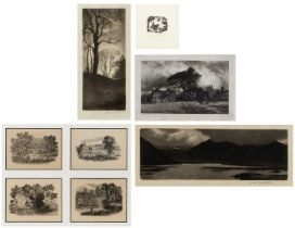 A collection of wood engravings and etchings, artists to include: Joan Hassall; K * M * Lindsley (