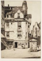 Alexander P Thomson (1887-1962) Knox's House, Edinburgh, etching, pencil signed in the margin, 25