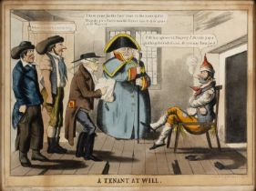 Charles Jamieson Grant 'A Tenant at Will', etching with aquatint, hand-coloured, published by