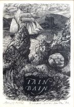 Richard Shirley Smith (b.1935) 'Iain Bain', wood engraving, artist's proof, pencil signed in the