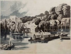 Richard Havell after William Havell 'Wallingford Castle taken in 1810 while the bridge was