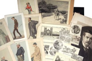 A folio of mixed prints and engravings to include: Samuel & Nathaniel Buck (X 5); Vanity Fair (X