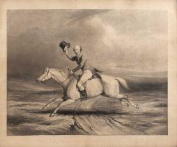 Thomas Landseer after Robert Richard Scanlan Paul Ourry Treby Esq. A Fox Hunter Rough and Ready,