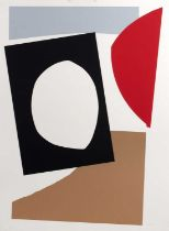 John Mclean (1939-2019) Abstract Form, 1995, signed and numbered in pencil, screenprint, 75 x