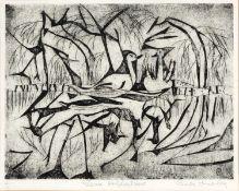 Doreen Torrible (20th century) 'London Bridge/Jubilee Line', etching, pencil signed in the margin