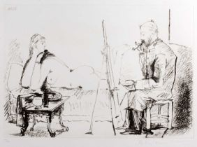 After Pablo Picasso (881-1973) Le Peintre et son Modale 198/500, signed and numbered in pencil by