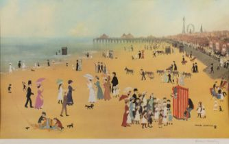 After Helen Bradley 'Blackpool Sands', print in colours, pencil signed by the artist, printed by