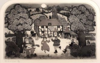 Graham Clarke (b.1941) 'Garlic Arkham', etching, hand-coloured, pencil signed, titled and numbered