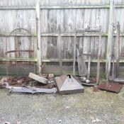 A collection of 19th century and later antique iron scales,