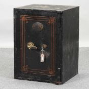 An early 20th century iron safe,