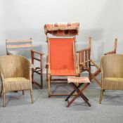 A pair of folding directors chairs,