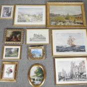 A collection of over fifty decorative prints,