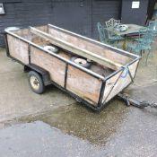 A single axle car trailer
