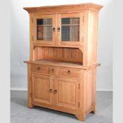 A modern light oak dresser,
