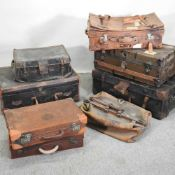 A collection of 19th century and later travelling cases,