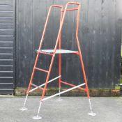 A set of Henchman metal folding workman's steps,