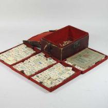 A vintage mahjong set