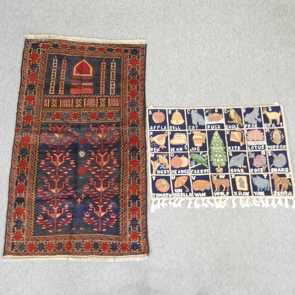 A woollen prayer rug