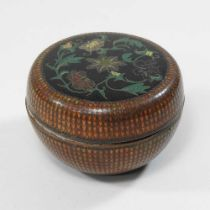 An early 20th century Chinese cloisonne box and cover