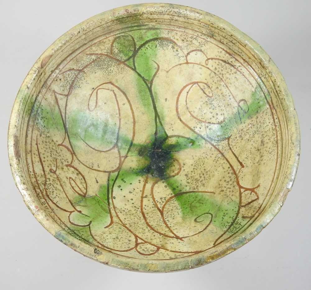 A Persian glazed pottery bowl - Image 4 of 6