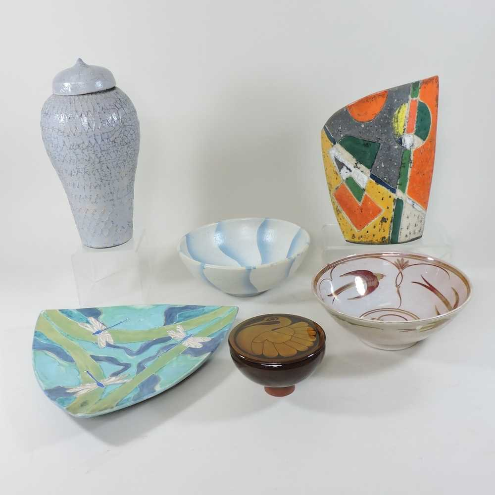 A collection of studio pottery
