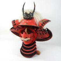 A Japanese Samurai style helmet