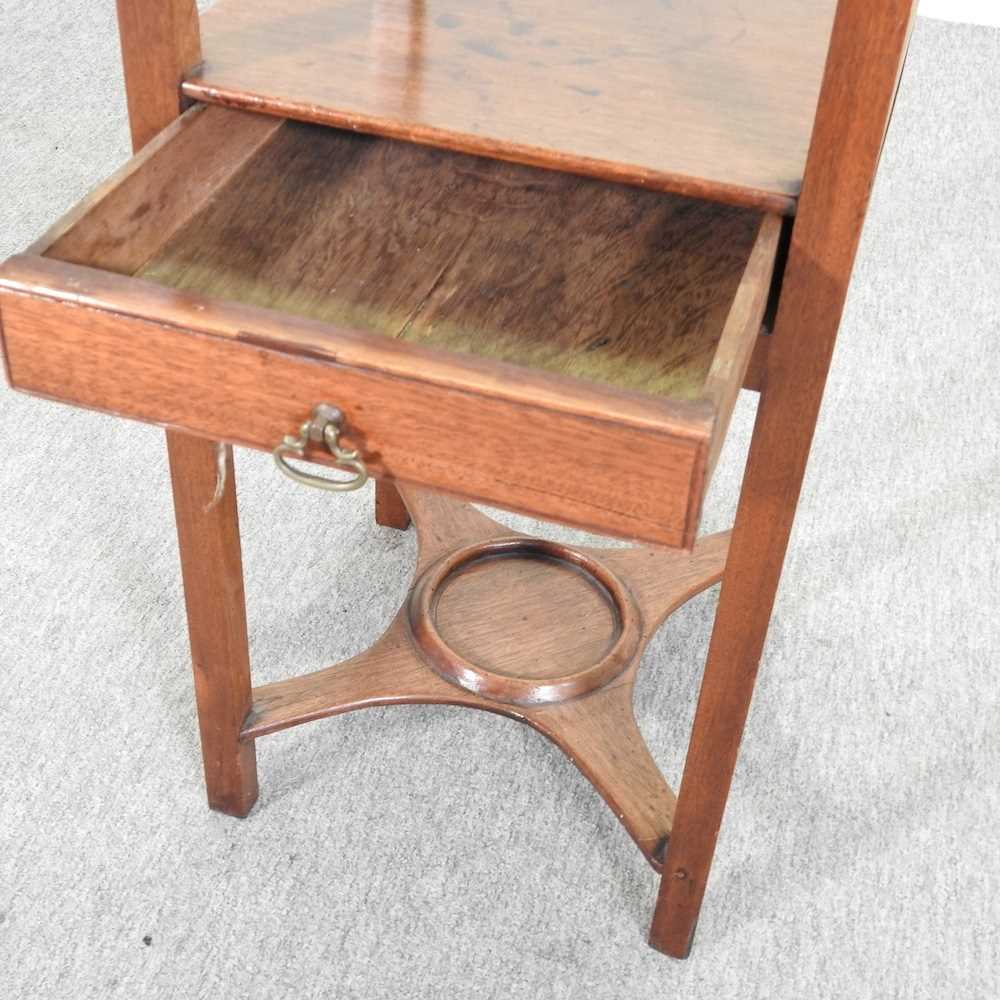 A George III and later mahogany and inlaid night stand - Image 5 of 5
