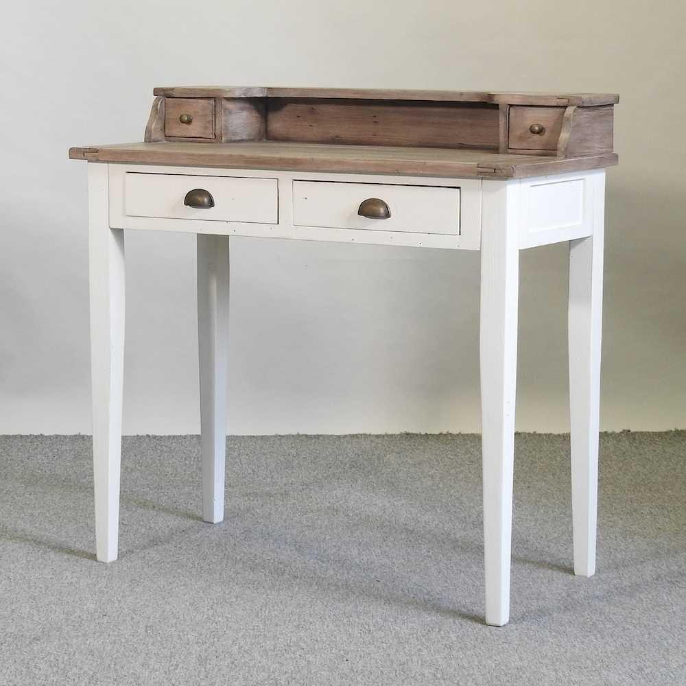 A modern cream painted desk