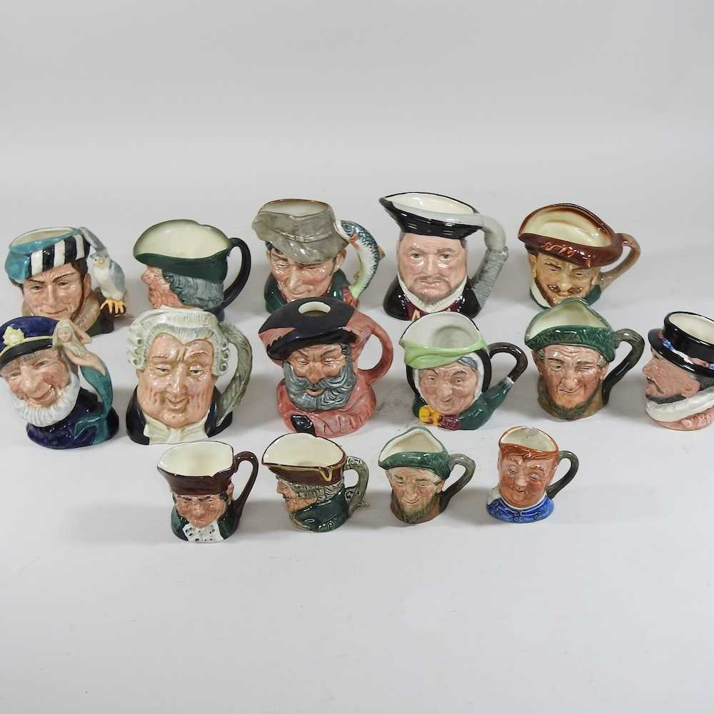 A collection of Royal Doulton Toby jugs