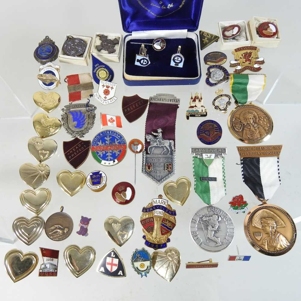 A collection of badges