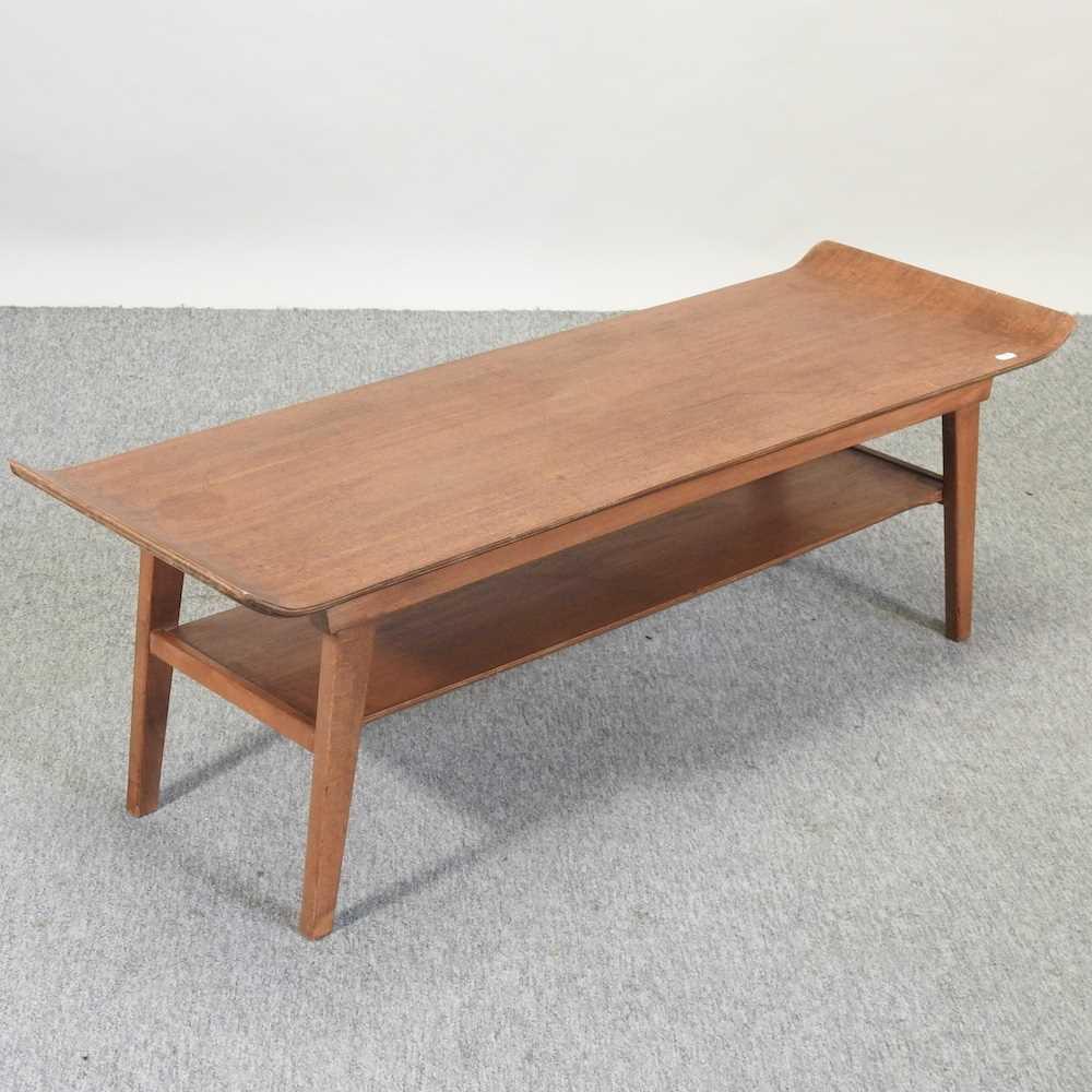 A 1970's teak coffee table