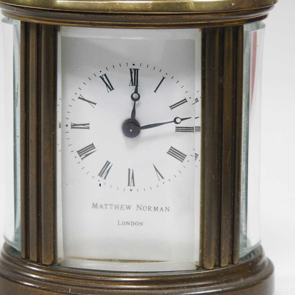 A small brass cased carriage clock - Image 7 of 8