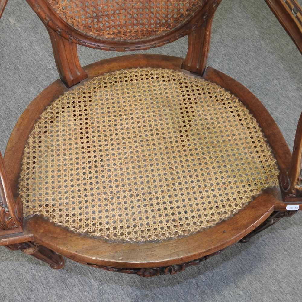 A pair of early 20th century Louis XVI style armchairs - Image 12 of 15