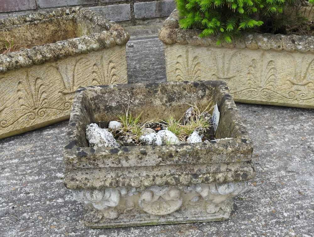 A pair of reconstituted stone troughs - Image 4 of 5