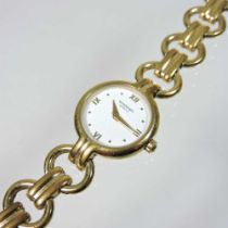 A Raymond Weil gold plated ladies dress watch