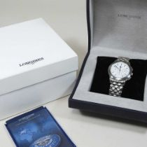 A modern Longines automatic steel cased chronograph wristwatch