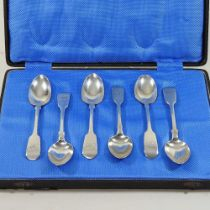 A matched set of six Victorian silver teaspoons