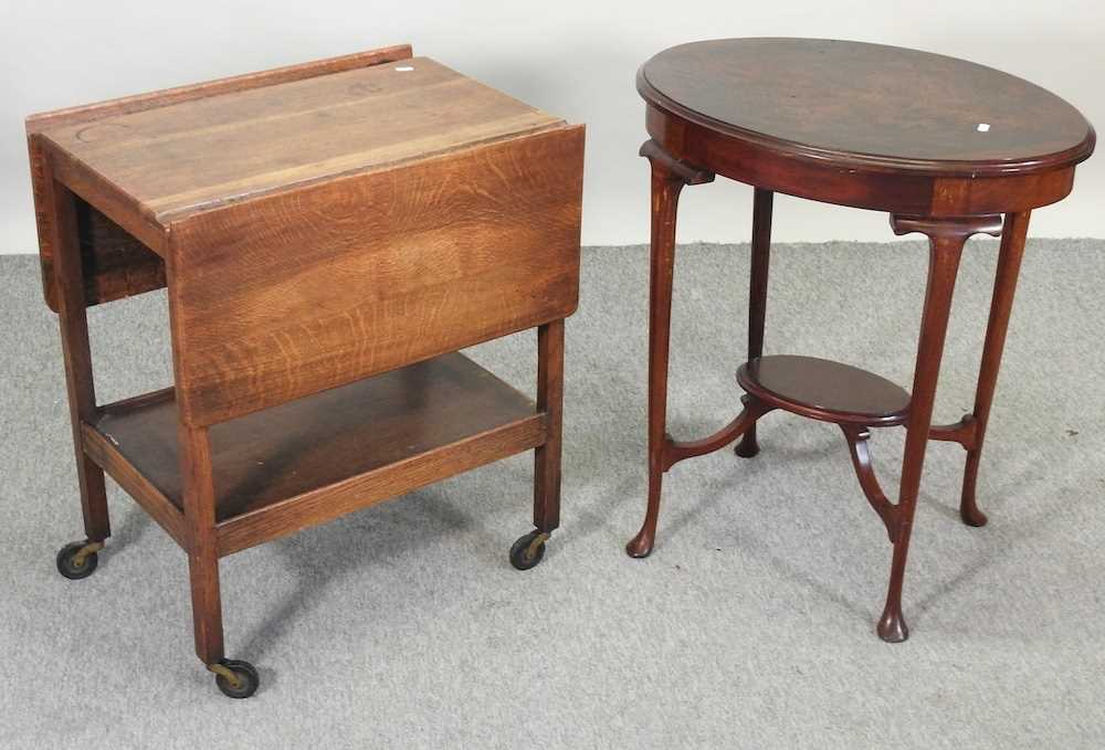 An Edwardian mahogany two tier occasional table - Image 3 of 8