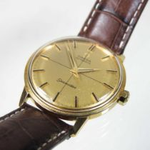 An Omega Seamaster gold plated automatic wristwatch