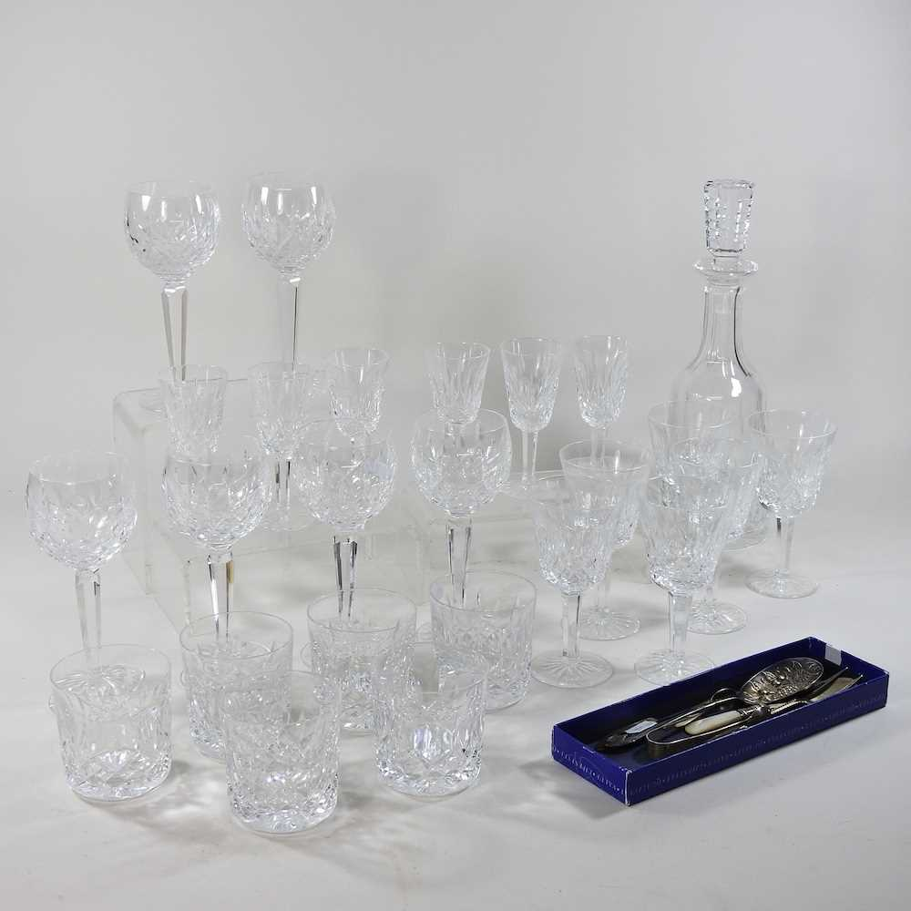 A collection of Waterford Lismore pattern crystal