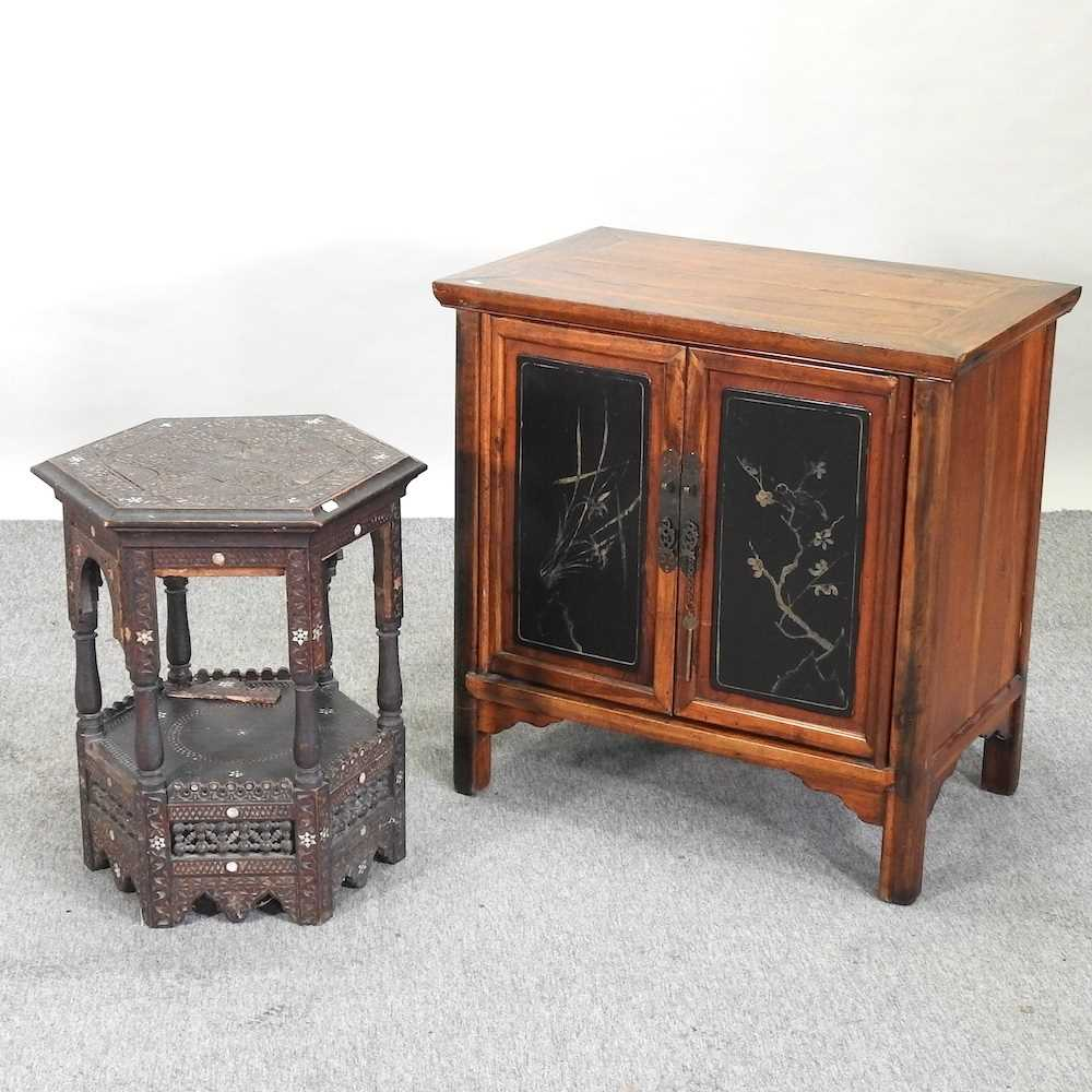 A modern Chinese hardwood cabinet