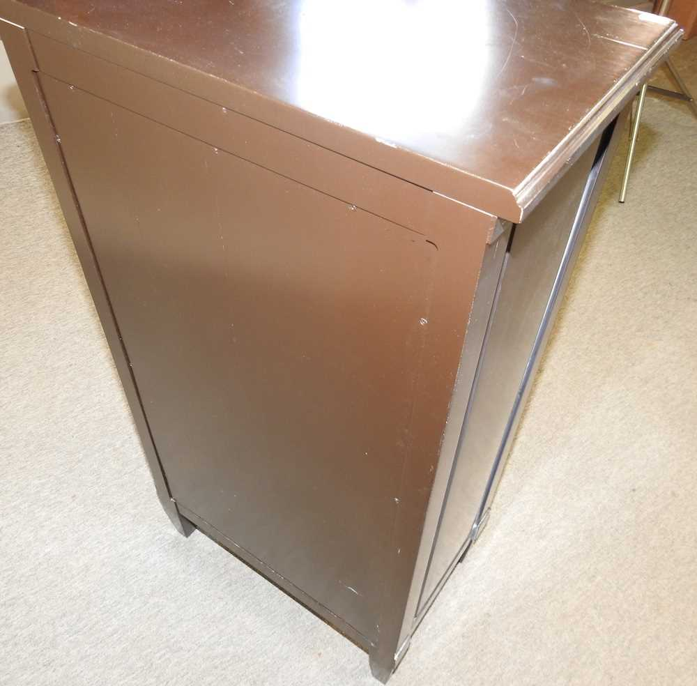 A modern black and white narrow cabinet - Image 6 of 6