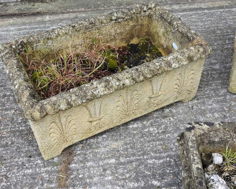 A pair of reconstituted stone troughs - Image 5 of 5