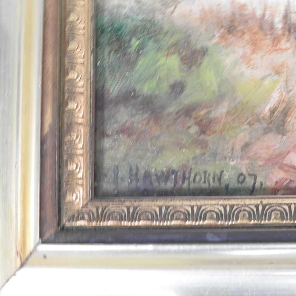 Hawthorn, 20th century, landscape - Image 8 of 8
