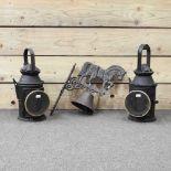 A metal heavy horse doorbell,